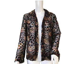 1930s Devoré or Burnout Velvet Jacket