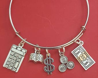 Accountant Themed Charm Bracelet