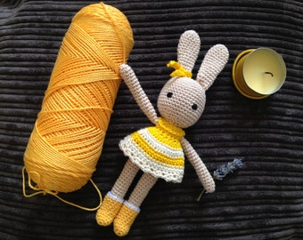 Crochet bunny, Amigurumi, for girl