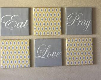 Eat Pray Love Wall Art