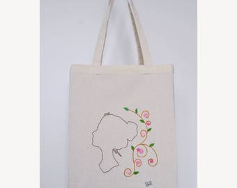 "Embroidered tote bag - ""Bohemian"""