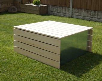 Modular Pine Clad Garden Table