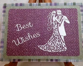 Best Wishes -  Handcrafted Greeting Card w/verse - Wedding Card - W/Heartfelt Messages