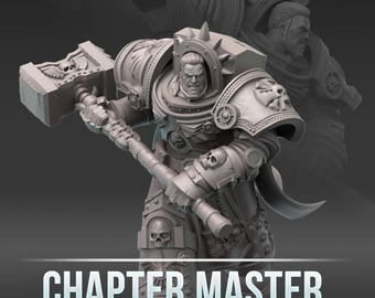 """28mm wargaming and collectible miniature, Chapter Master by """"W"""" Artel"""