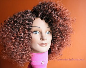 "READY TO SHIP // Human hair wig ""Copper Bliss Remix"""