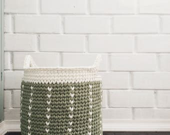 Large crochet basket / nursery toy basket / laundry basket / Toys basket / storage basket / kids toy storage / bathroom storage