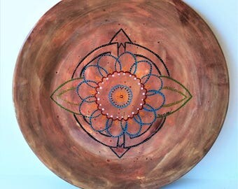 "Pointe Me In The Right Direcetion - 10"" Round Original Abstract Ceramic Painting"