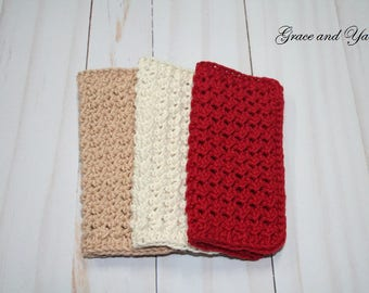 Crochet Dish Cloth, Crochet Wash , 3-pack