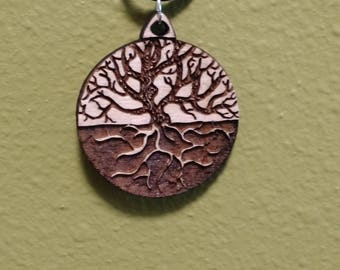 Tree of Life Laser Cut Engraved Pendant