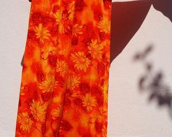 Vintage 70s Kaftan Mumu Maxi Dress - California Dreamin' - Plus Size Vintage