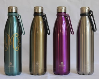 Manna Water Bottle / Stainless Water Bottle / Personalized Water Bottle/ Custom Water Bottle