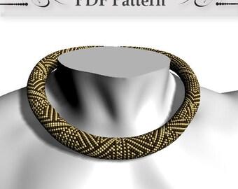Bead crochet rope pattern, Bead Crochet Necklace Pattern, pattern for bead crochet necklace, Bead Crochet Tutorial Bracelet Pattern how to