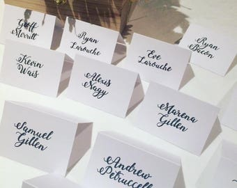 Calligraphy Black and White Placecards