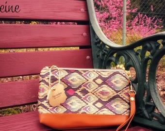 Fabric Clutch/ Multicolored Mosaic Fabric Clutch/ Party Clutch/ Multi utility clutch/ Zipper pouch/Fabric Pouch