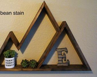 Mountain Shelf, Mountain Shelves, Rustic Wood Shelf, Wood Shelf, Shelf  Decor,