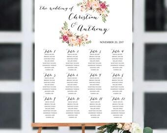 Wedding seating chart, wedding seating chart poster, Wedding seating chart alphabet, Wedding seating chart template, seating chart, #103