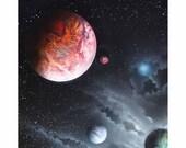 Space Painting - Spray Paint Art - Planets - Galaxy - Deep Space - Stars - Mars - Cosmos - Street Art - Night Sky - Universe - Interstellar