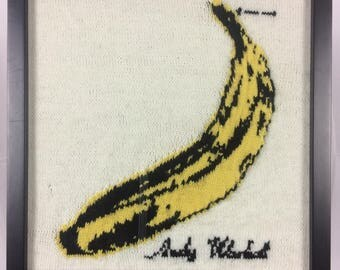 """The Velvet Underground - """"The Velvet Underground & Nico"""" (a hand-knit recreation of the 1967 album cover)"""