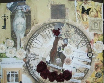 "Art Print Mixed media collage ""Jig of Life """