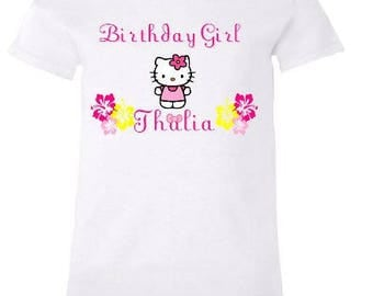 Hello Kitty Birthday Shirt - Matching Family Shirts Available