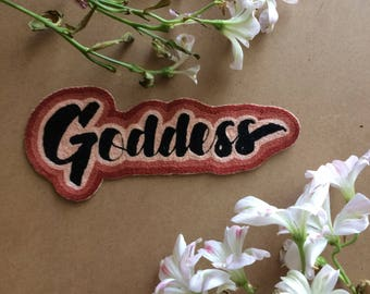 Hand Embroidered Goddess Patch Iron-On