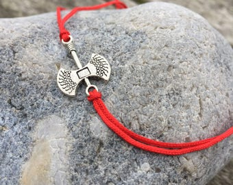 Thors Hammer Ankle Bracelet, Tie-On Anklet, Ankle Jewellery, Boho Ankle Jewelry, Simple Ankle Bracelet, Simple Anklet, Foot Jewellery