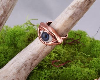 Blue Eye Ring Size 6