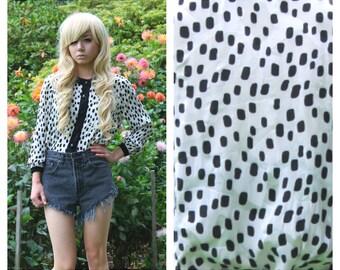 Vintage Silk Dalmatian Blouse
