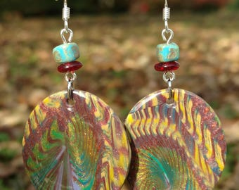 Abstract Oval Dangles