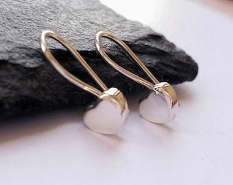 Love Heart 925 Sterling Silver Drop Dangle Earrings for Girls Women Valentine's Gift for Her