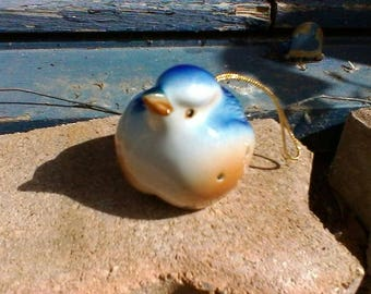 Blue Bird - French vintage porcelaine diffuser or pomander