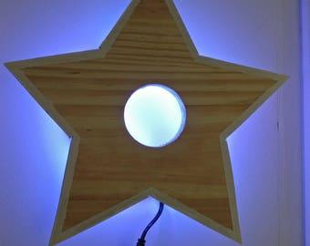 Star light Wall Sconce wood STELLA LILY WOOD rgb