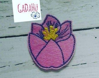 Flower feltie. Embroidery Design 4x4 hoop Instant Download. Felties