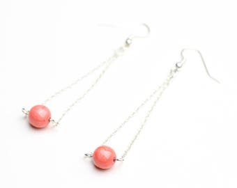 Pink Pearl Earrings and chain