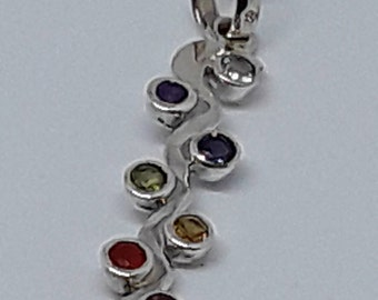 Sterling silver kundalini pendant