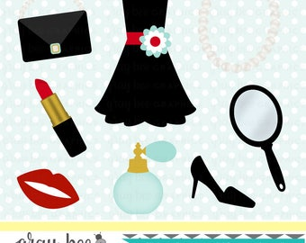 SALE-50% OFF Little Black Dress-Fashion-Date Night-Clipart Set,Commercial Use, Instant Download, Digital Clipart, Digital Images- CP212