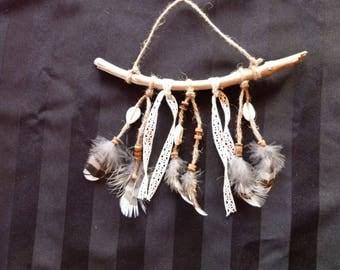 Driftwood Native American dream catcher wall hanging