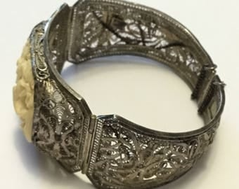 Antique Chinese Filigree Bracelet