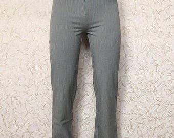 Gray Skinny Pants High Waist Casual Trousers Vintage 90s Office Pants Pencil Trousers Gray Classic Pants Elegant Hipsters Size XS Size S 34