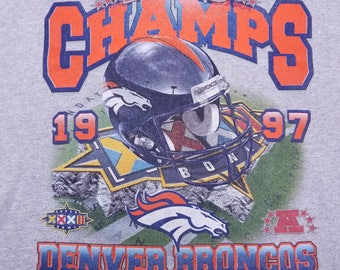 Vintage 90s Denver Broncos Starter Super Bowl Champs Sweatshirt sweater shirt Size XL