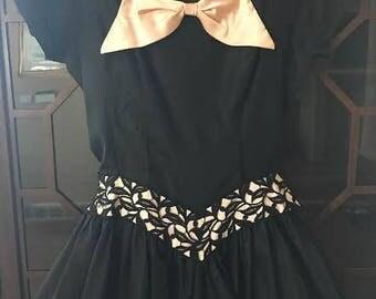 50s Black & Pink Prom Dress