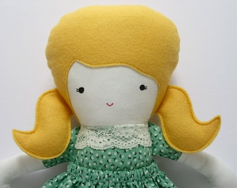 Fabric doll rag doll handmade- Natalie