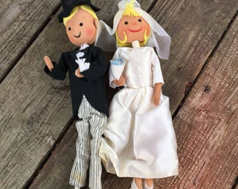 Bride and Groom Stocking Dolls by A Scandia Doll