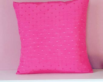 Delightful Pink Cushion Cover