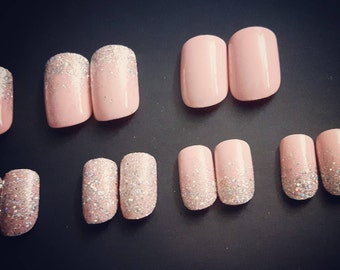 Pixie In Pink - Handmade Full Coverage Press-on Nails