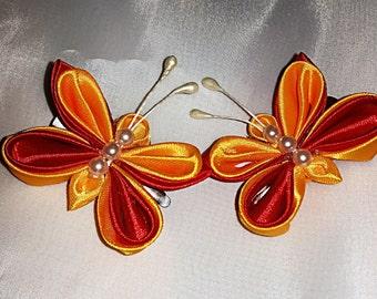 Butterfly hair-slide