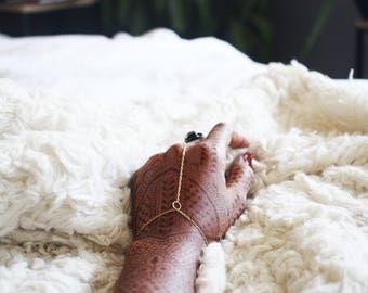 Gold Hand Chain / Minimal Slave Bracelet