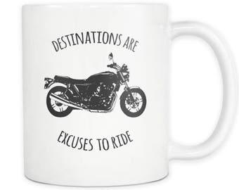 Destinations Biker Ceramic Mug