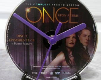 Once Upon A Time DVD Clock Upcycled TV Show - Snow White & Prince Charming