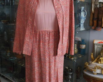 Vintage set dress and blouse matching T38/40